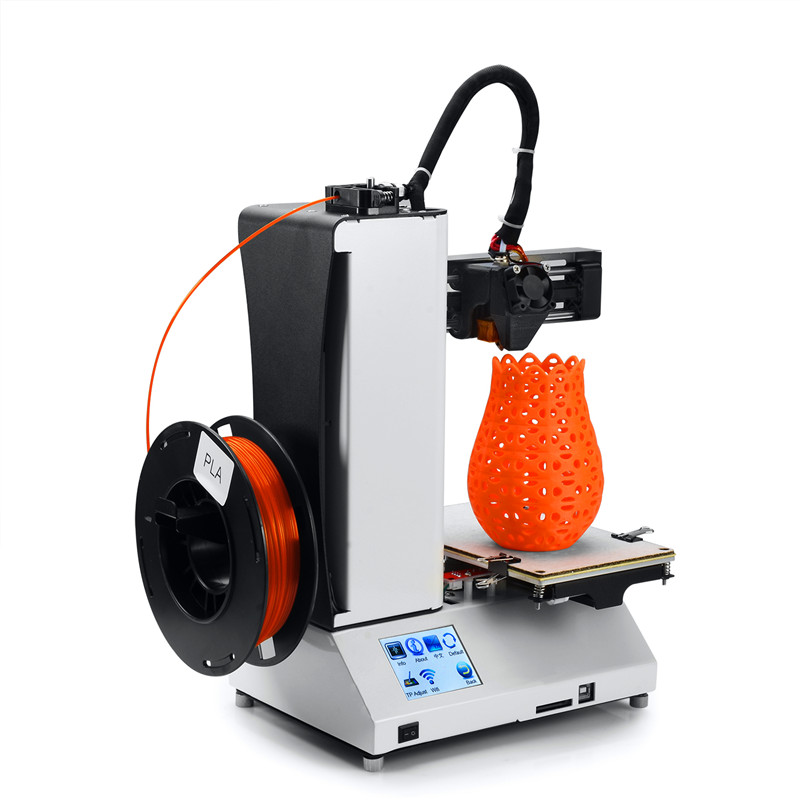 Infitary Portable Mini Children 3d Printer Auto-Leveling 3d printer Colors Touch-screen STM32 processor with 1 roll PLA Filament auto leveling wifi 3d printer size 150 150 150mm 3d printer with heatbed and touch screen for iphone ipad android 20m filament