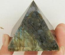 beautiful Natural labradorite QUARTZ CRYSTAL pyramid Moonstone Pyramid HEALING 28mm-35mm Wholesale