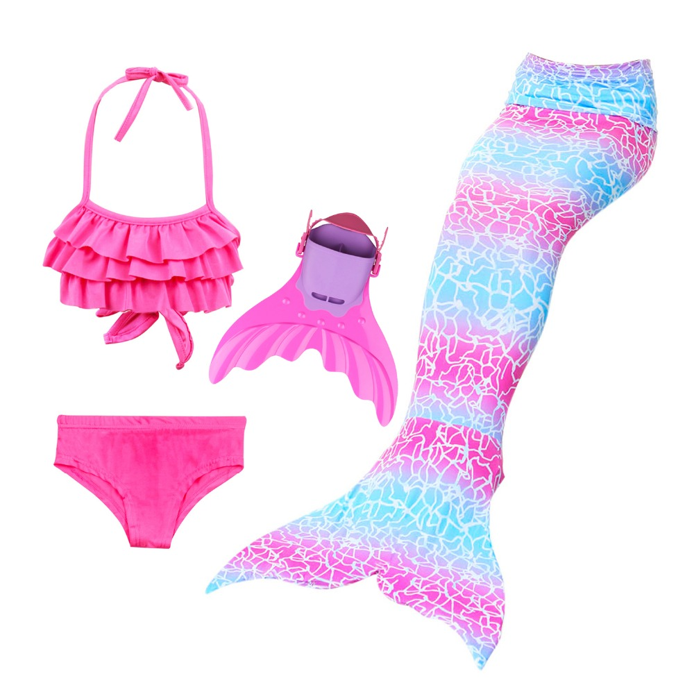 Mermaid Tails for Swimming Costume Bathing Suit Girls Children little Mermaid Tail Swimmable Cosplay Princess Dress Fairy Tail