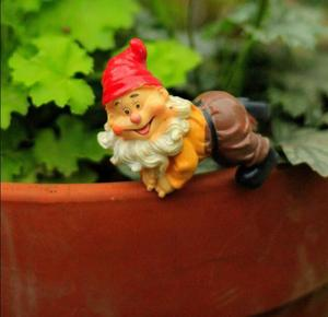 Image 4 - 4pcs לכל סט, גבוהה הוא 6 סנטימטר, מיני כובע גמד עציצי קישוטי זאקה גינון מצרכי טחבי בשרני מיקרו נוף elf