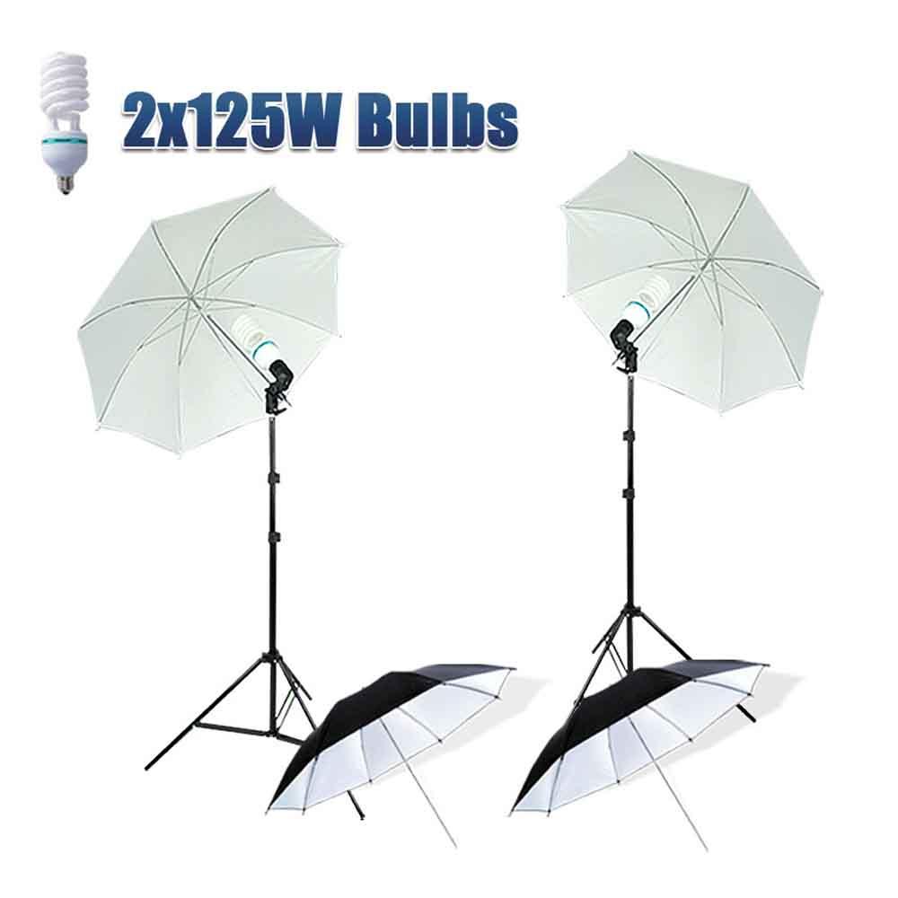 83cm/33inch Photo Studio Reflective Softlight Umbrella Lightbox 2m Light Stand For Photography Studio Camera Softbox Light Kit