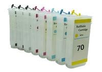 1 bộ 130 ml cho hp 70 empty cartridge ink refillable cho HP70 Designjet 2100 z2100 c9448a c9448 Máy In với Chip Auto Reset