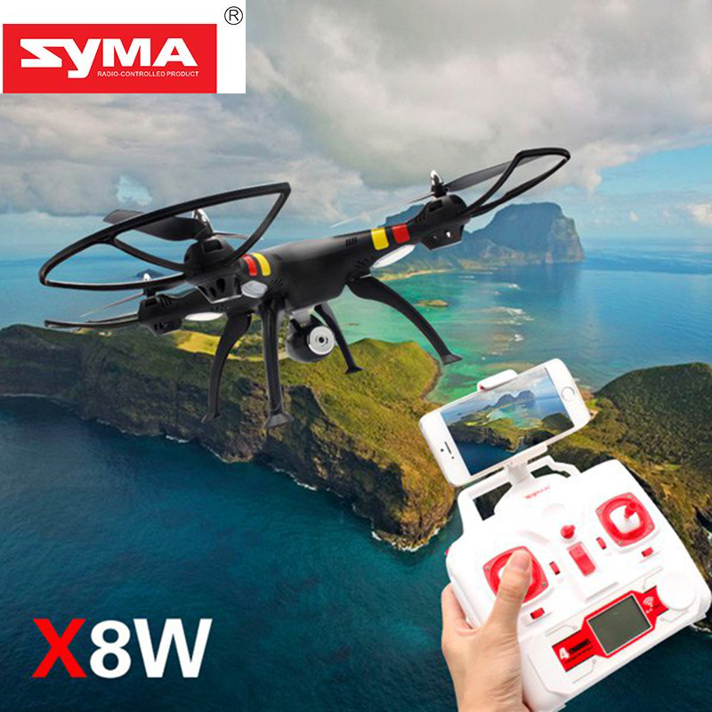 SYMA X8W RC Drone 2.4G 4CH 6Axis WIFI FPV RC Aircraft  0.3MP HD Camera RC Simulators Headless Mode 3D Rollover RC Quadcopter wltoys q222 quadrocopter 2 4g 4ch 6 axis 3d headless mode aircraft drone radio control helicopter rc dron vs x5sw