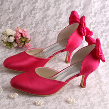 Wedopus Скидка Ярко-Розовый Свадьба Невесты Обувь Med Каблуки Закрыты Носок Размер 8