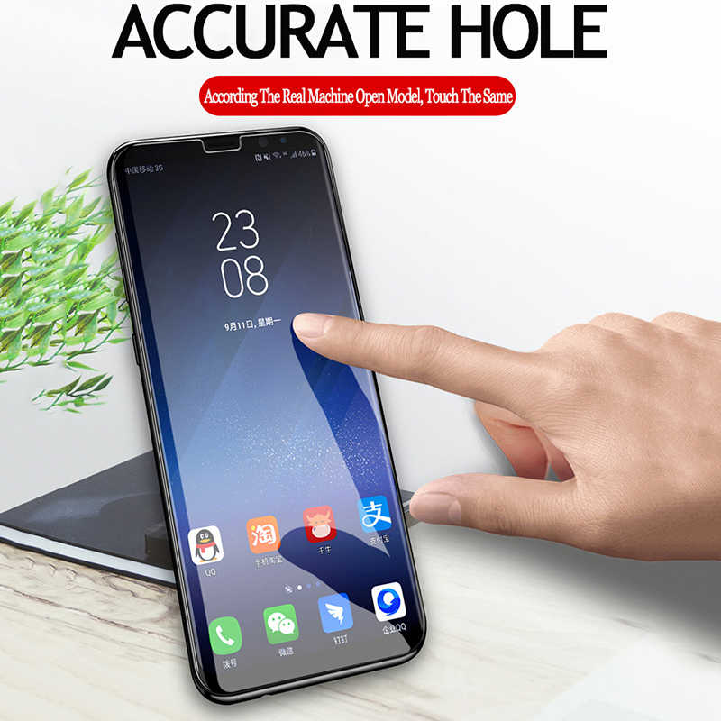Nano Liquid UV Glue Tempered Glass For Samsung Galaxy Note 9 8 S8 S9 Plus  S7 Edge Screen Protector For OPPO Find X With UV Light
