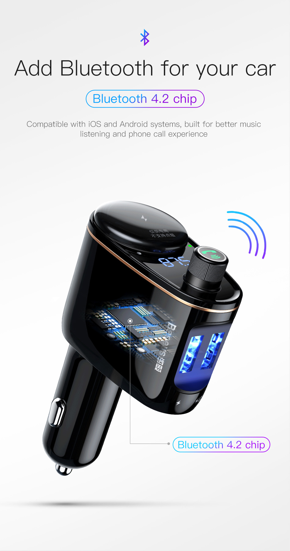 Baseus Car Mp3 Audio Player Bluetooth Kit Fm Transmitter Single Chip For Short Range Application 0 01 Htb1lsbrhrznbknjszfrq6yrlfxai 02