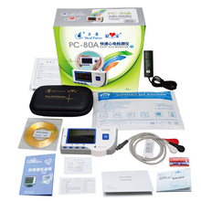 2.8inch OLED Bluetooth Dynamic ECG Systems USB patient Monitor 24 hour Recorder real time store ECG data with PC software abpm50 ce fda approved 24 hours patient monitor ambulatory automatic blood pressure nibp holter with usb cable