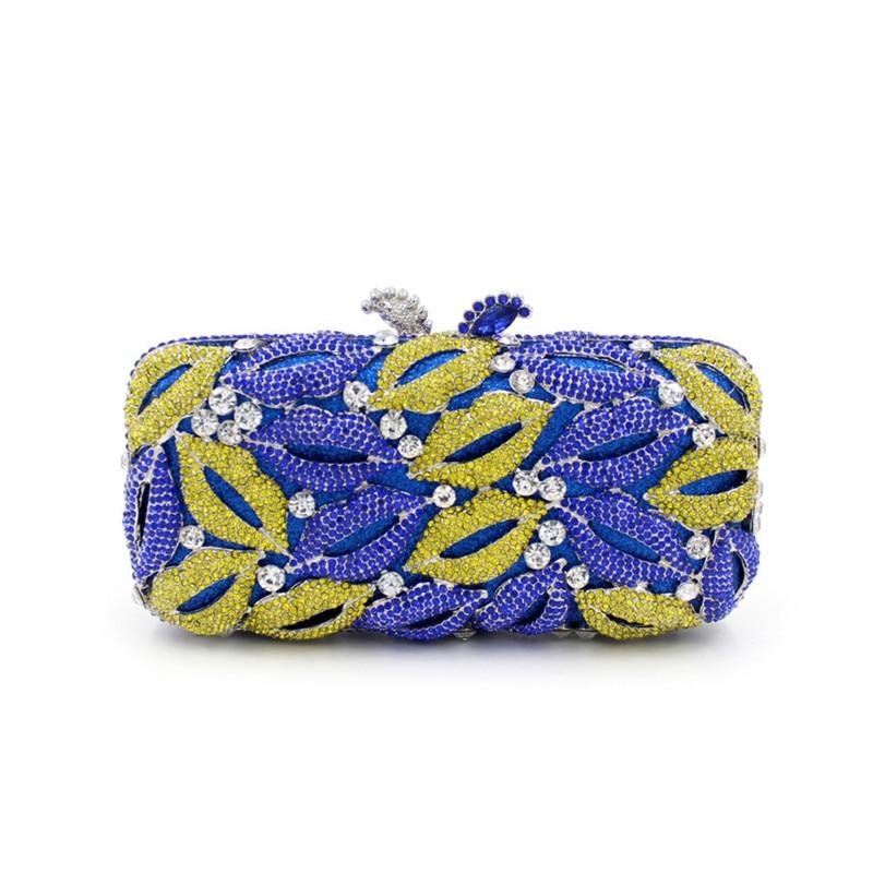 Фотография  Luxury Beading Heart Evening Bag Women Handmade Finger Ring Clutches Rhinestone Purse Diamonds Wedding Party Handbag