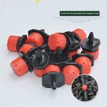 Emitter Dripper Red Watering Kits 100 Pcs 8 Holes Anti Clogg