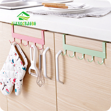 JiangChaoBo Door Rack Hooks Kitchen Hanging Storage Hanging Holders Accessories Tool Door Hanger Hook cheap Storage Holders Racks Stocked Hook Type Metal 5-Layer F0003 Non-folding Rack Scouring Pad iron