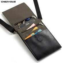 Chezvous 6.4 인치 휴대 전화 파우치 아이폰에 대한 삼성 화웨이 xiaomi 스마트 폰 남성 여성 작은 어깨 가방 여행 주머니
