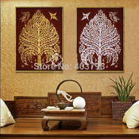 MODERN ABSTRACT HUGE LARGE CANVAS ART OIL PAINTING southeast Asian style Tresaurement tree paintings no framed