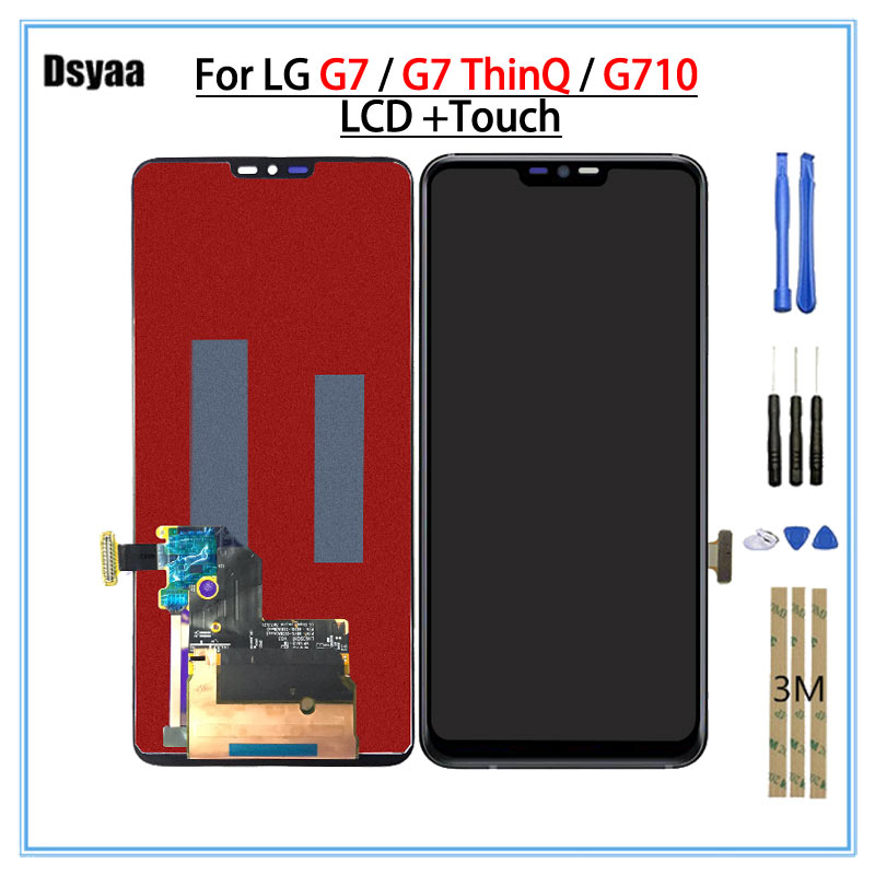 100% тестирование Дисплей для LG G7 ThinQ G710 G710EM G710PM G710VMP ЖК дисплей Сенсорный экран планшета Запчасти для авто для LG G7 ЖК дисплей
