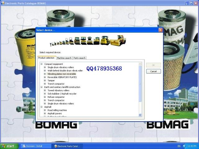 Bomag 2017 parts catalog and documantation