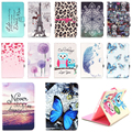 For Apple IPad Mini 4 Butterfly Leopard Flip PU Leather Case Smart Cover For Mini iPad Mini 4 Cover Wallet Silicone Stand Case