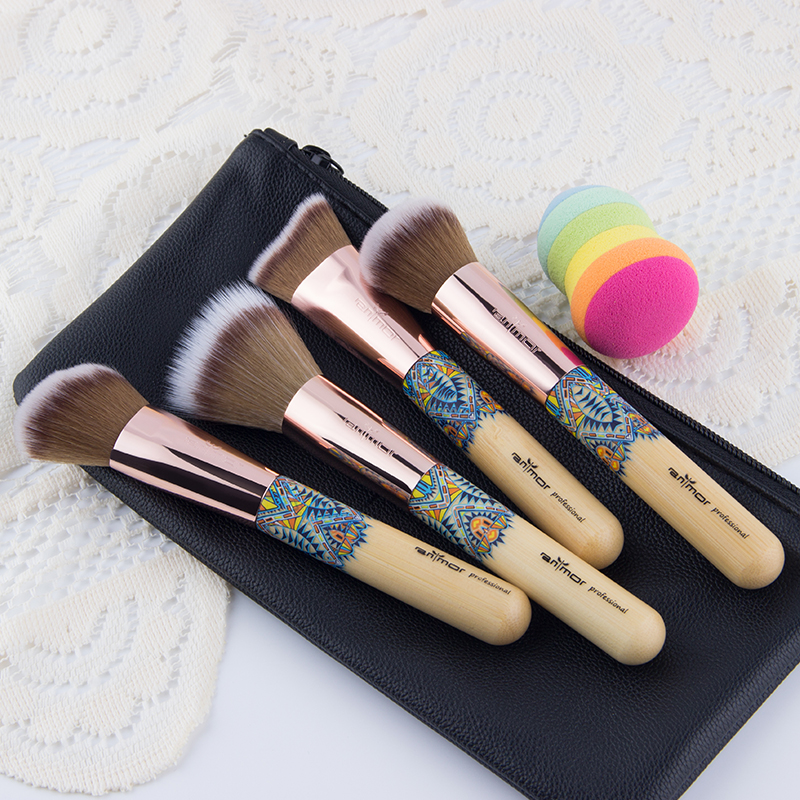 Anmor Brand Makeup Brushes New Synthetic Professional Make Up Brushes Tool For Powder Blush Contour Concealer Makeup anmor make up brushes professional powder duo fibre eyeshadow makeup tool synthetic makeup brushes set with black bag