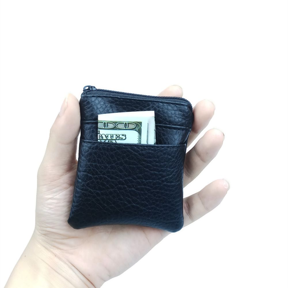 Fashion Pu Leather Cheap Coin Purse Women Men Small Mini Short Wallet Bags Change Little Key Credit Card Holder Business