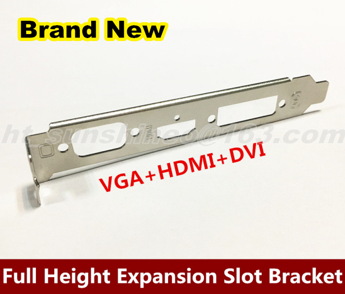 1PCS/LOT EVGA HD Video Graphics Card Full Height Expansion Slot Bracket CRT VGA+HDMI+DVI computador cooling fan replacement for msi twin frozr ii r7770 hd 7770 n460 n560 gtx graphics video card fans pld08010s12hh