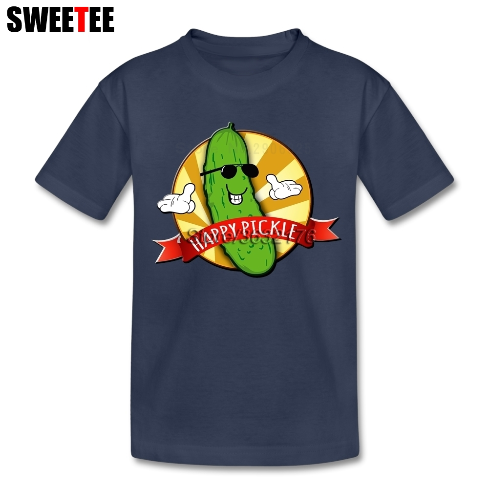 Happy Pickles childrens T Shirt Cotton Short Sleeve Crew Neck Tshirt Boys Girls Simple Style T-shirt For Baby Rick And Morty