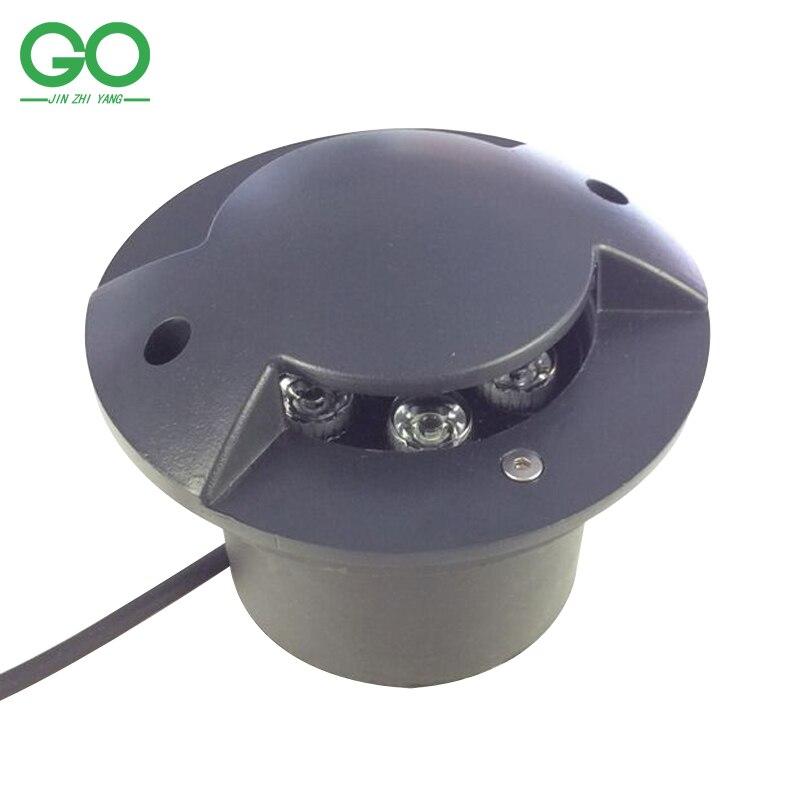 ФОТО LED Underground Lamps 9W 12V 24V 110V 220V Outdoor Garden Recessed Step Buried Floor Patio Light Landscape Sidewalk Lighting