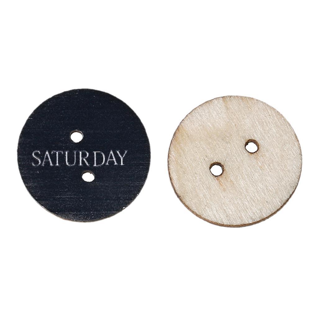 ᐅDoreenbeads madera Costura scrapbooking botón redondo negro dos ...