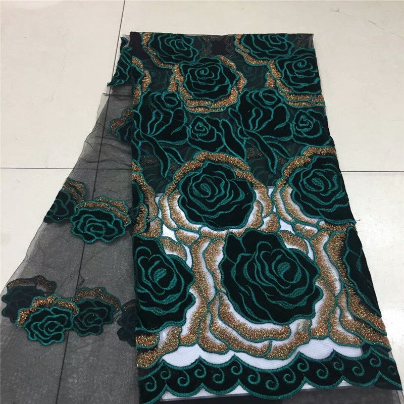 African Velvet Lace Fabric 2018 High Quality Lace French Cord Laces For Nigerian Party Dress French Net Lace Fabric Xc260a Home & Garden