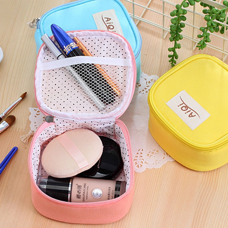 Beauty Small Candy Color Woman Cosmetic Bags