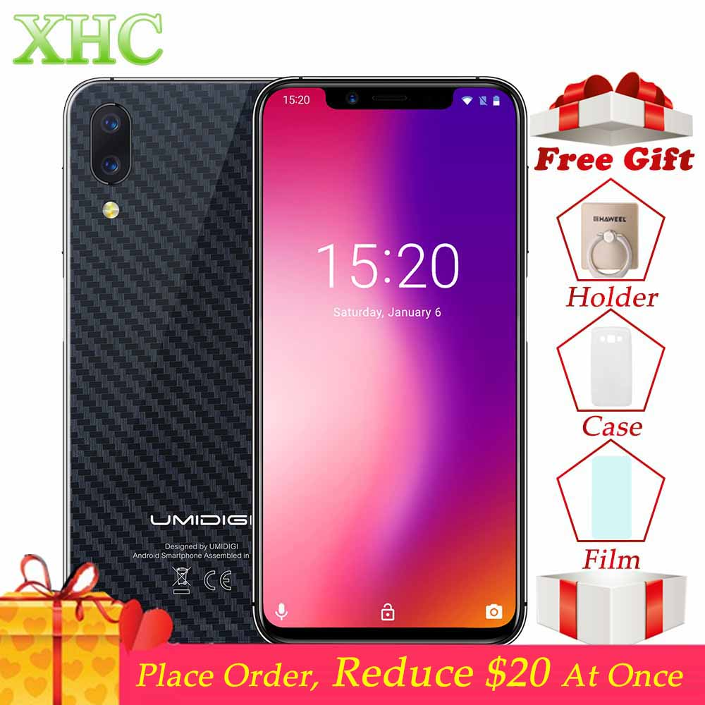 UMIDIGI One Dual 4G VoLTE Mobile Phone 4GB+32GB Face ID 5.9'' Android 8.1 NFC Dual SIM 16MP 12MP Helio P23 Octa Core Smartphones