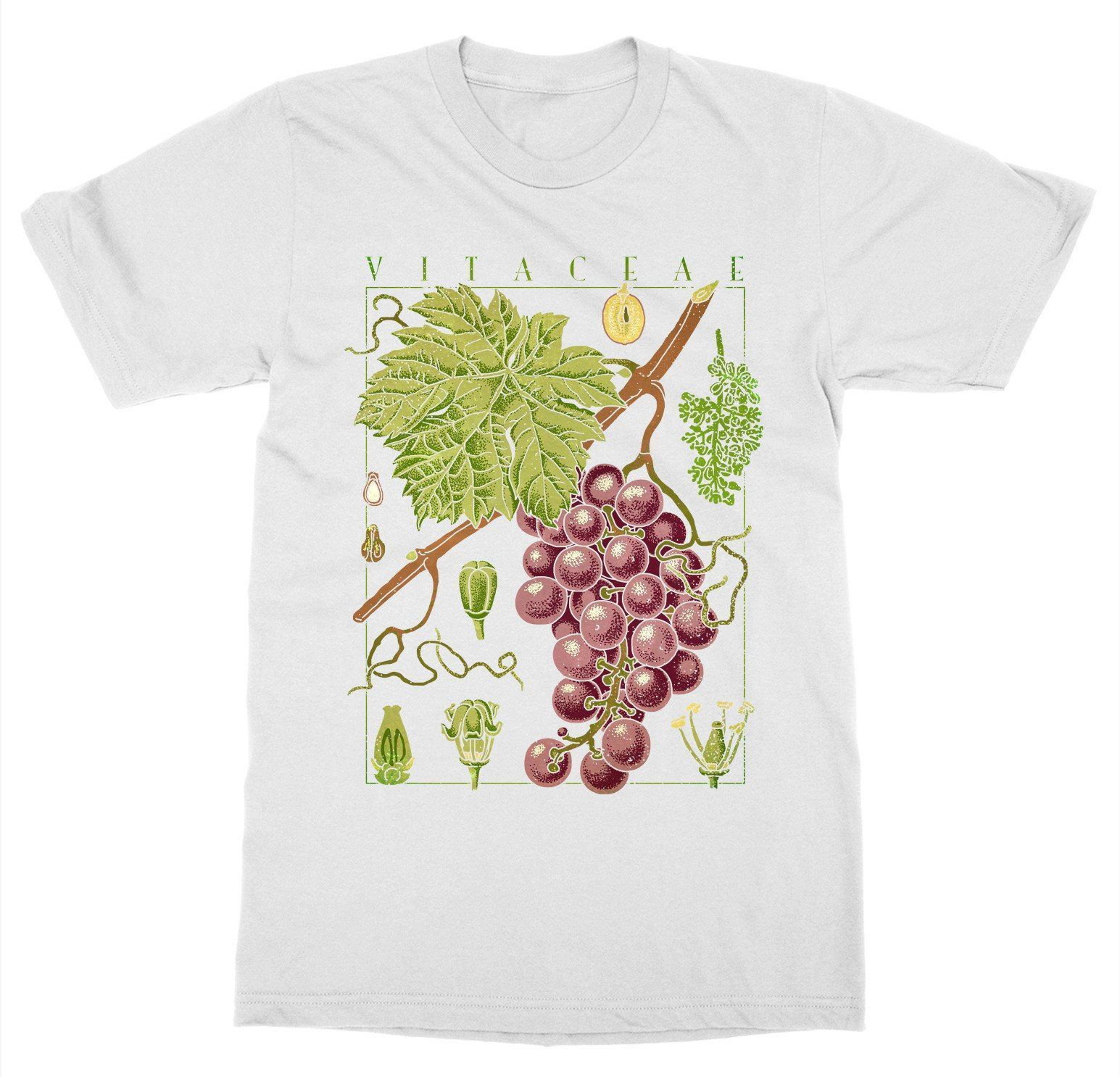 Short Sleeve For Men Clothing Summer Wine T Shirt Grape Vine