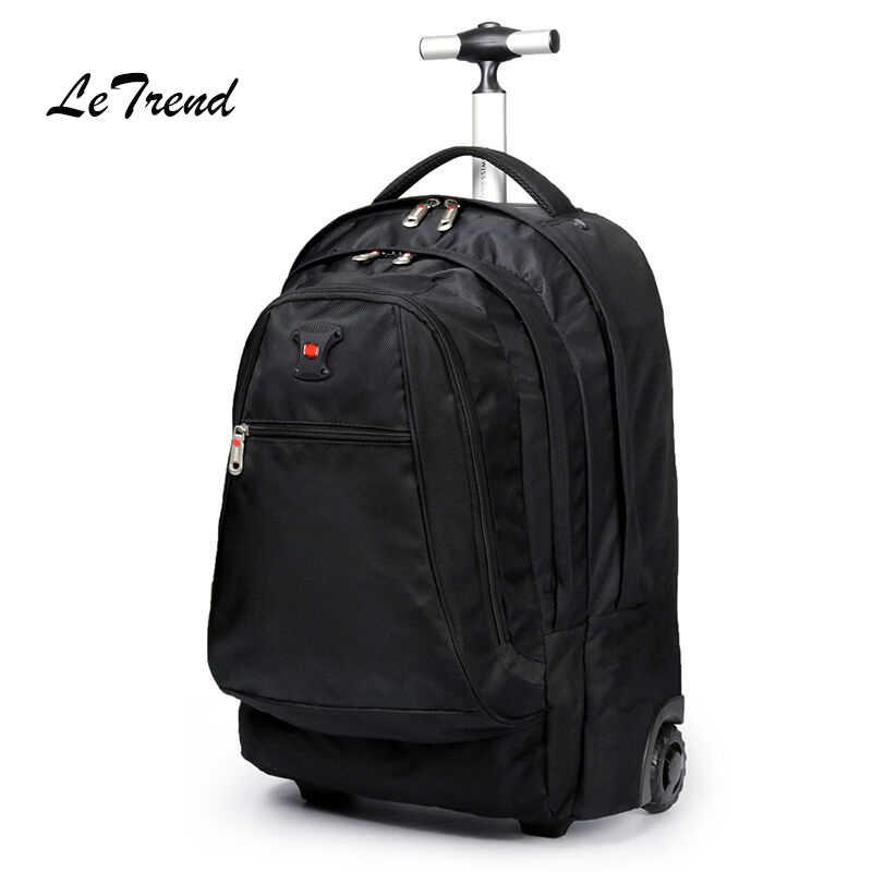 890549a84543 Letrend для мужчин Бизнес Путешествия Duffle 20 дюймов вести чемодан на  колесах компьютер рюкзак сумки на