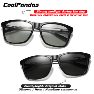 Image 3 - Brand Chameleon Sunglasses Photochromic Men Women Day Night Vision Driving Goggles Aluminium legs oculos gafas de sol hombre