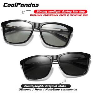 Image 3 - Thương Hiệu Tắc Kè Hoa Kính Mát Photochromic Nam Nữ Ngày Đêm Với Kính Nhôm Chân Oculos Gafas De Sol Hombre