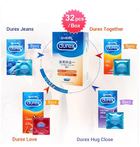 <font><b>Durex</b></font> 32PCS with air Ultra Thin 4 Types Cock <font><b>Condom</b></font> Intimate Goods <font><b>Sex</b></font> <font><b>Products</b></font> Natural Rubber Latex Penis Sleeve <font><b>Sex</b></font> For Men image