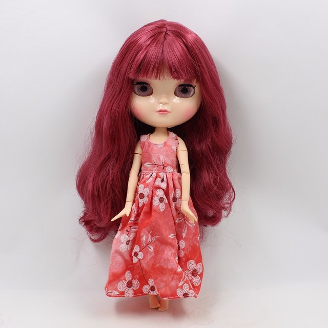 ICY Neo Blythe Doll Red Hair Azone Jointed Body 30cm