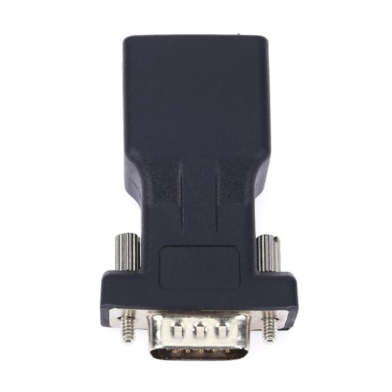 Extender VGA Male to LAN CAT5 CAT6 RJ45 Network Cable Female Adapter RS232 female to RJ45 male port converter bnc female to rj45 network testing cable black