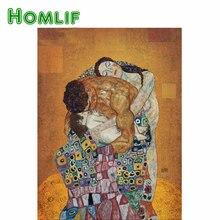 HOMLIF алмазная живопись, вышивка крестом, счастливая семья, сделай сам, алмазная вышивка, Климт, картина, 3D Мозаика, картина, ремесла, наборы, Декор