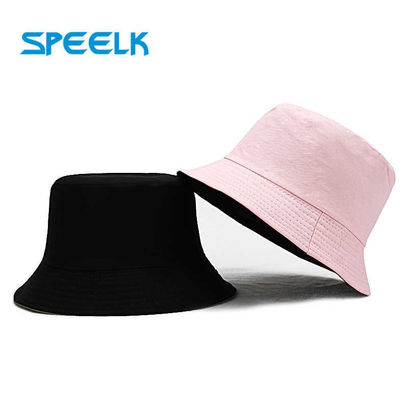 Nowe kapelusze przeciwsłoneczne Unisex kobiety lato dwustronnie kapelusz typu bucket mężczyźni Pure Color Panama Fedoras odkryty kapelusz rybaka daszek czapka na basen