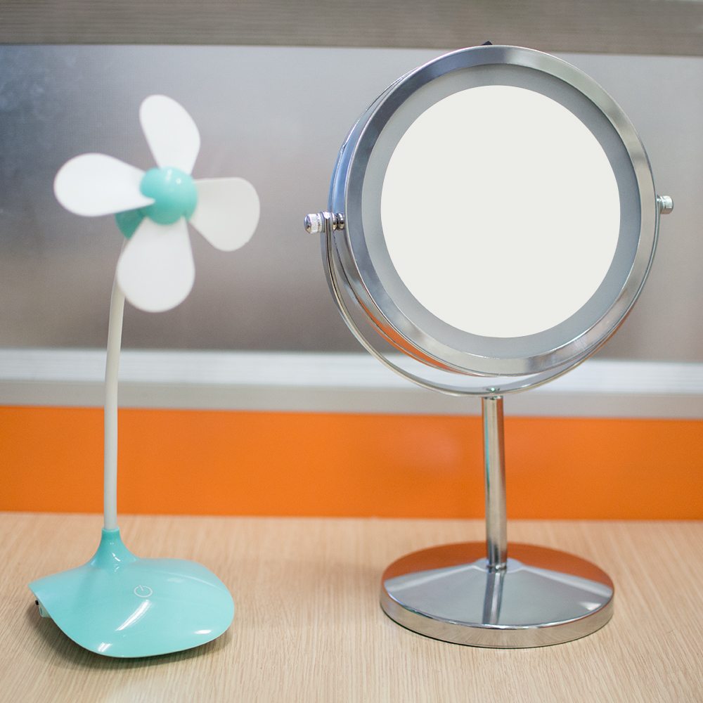 Adjustable Dual 2 Sided Cosmetic LED Mirror Magnifying Mirror Brightness Make Up Makeup Mirror nyx professional makeup двустороннее зеркало dual sided compact mirror 03