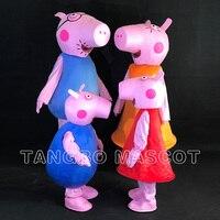 Pembe domuz maskot kostüm yetişkin & kid için Fantezi elbise charactor parti cosplay