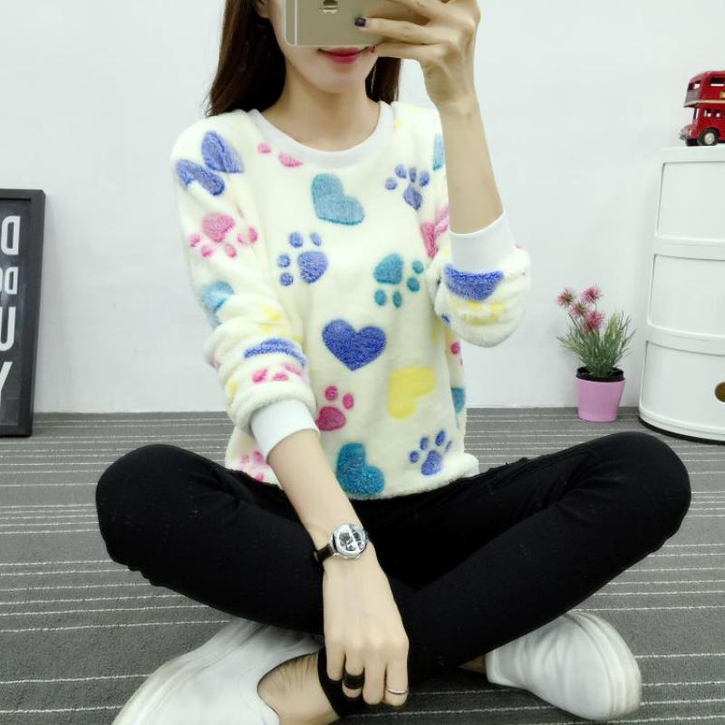 Cute Teddy Bear Harajuku Christmas Women Sweaters 2017 Fashion Winter Wool Pullover Cashmere Knitted Sweater Warm Flannel 1
