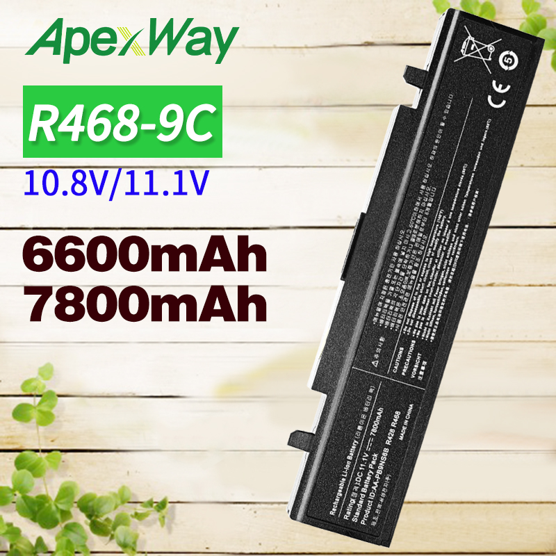 6600mAh 9 Cell Battery AA-PB9NC6B For Samsung R420 R428 R429 R430 R467 R468 R522 AA-PB9NC6W AA-PL9NC6B AA-PB9NS6W NP300E5C