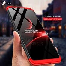 GKK Original for Xiaomi Redmi 7A Case 3 In 1 All-included Anti-knock back Matte Hard PC Cover coque Funda