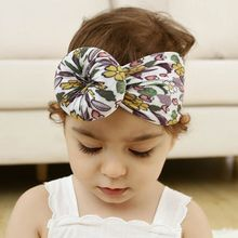 Donut Wide Nylon Headwear 360 Degree Seamless Fruit Printing Pattern Super Cute Child Hair Band