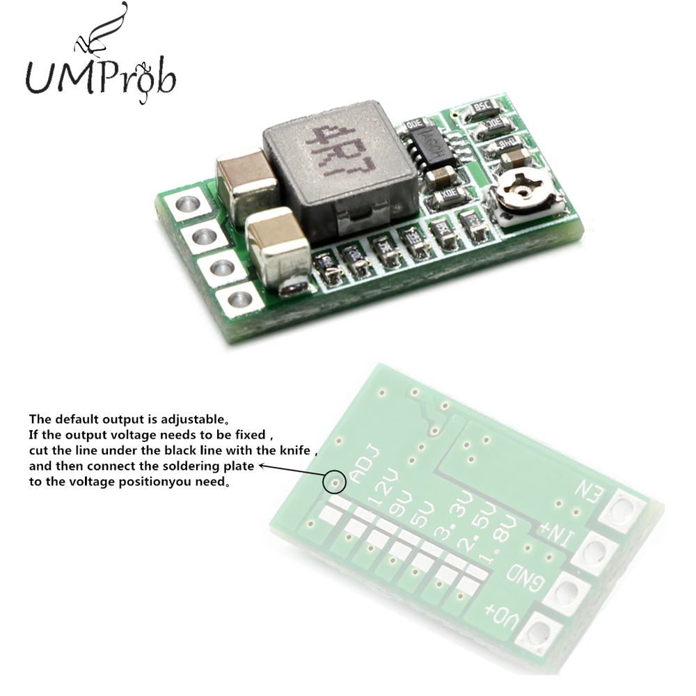 Ultra-Small Size DC-DC Step Down Power Supply Module 3A Buck Converter Adjustable 1.8V 2.5V 3.3V 5V 9V <font><b>12V</b></font> image