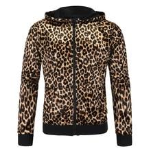 2016 New Men Leopard Hoodies Jacket Brand Man Coats Mens Sportswear Male Sportsman Wear Polo Hoodie XY119A