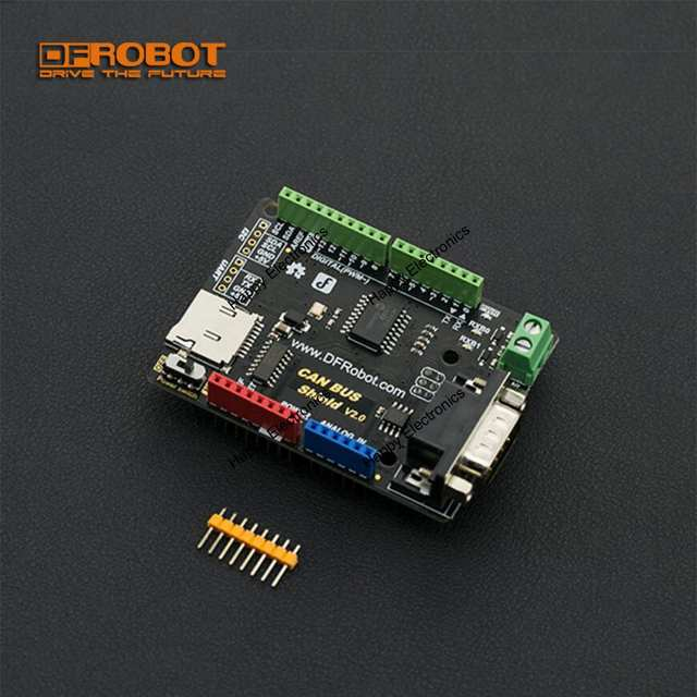 DFRobot CAN-BUS Shield V2 0, 3 3~5V MCP2515 chip with MicroSD socket  Support UART/i2C/DB9 interfaces for Arduino Microcontroller