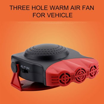 Nowy 12V 150W samochód wentylator ocieplane ciepłe grzałka odmrażacz szyby przedniej 2 W 1 przenośny samochód dostawczy podgrzewacz tanie i dobre opinie CN (pochodzenie) 12 v 18cm Ogrzewanie i fanów 0 4kg Car Van Heater 13 5cm black red black 18 * 7 * 13 5cm