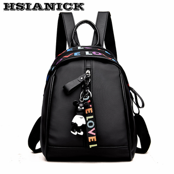 Backpack female 2018 new arrival design black fashion backpack student bag girl canvas shoulder bag female travel bag backpack tas kecil dan harganya