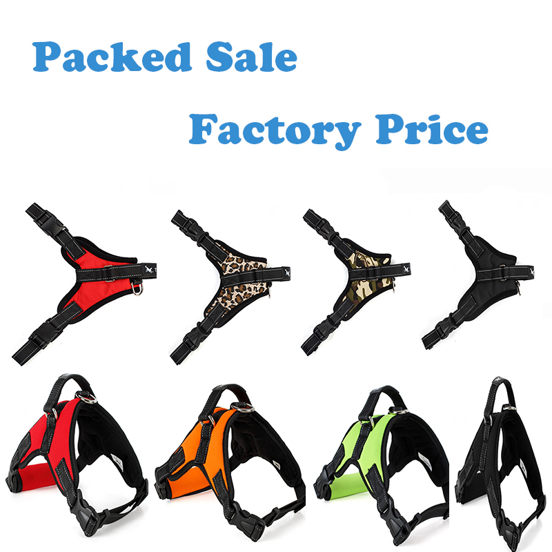 Adjustable Pet Dog Harness Saddle Type Large Dog Chest Vest Harness Police K9 Traction Rope Dog Collars Pet Supplies 3 Materials
