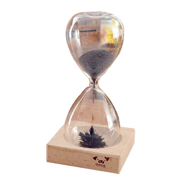 magnetic timer sand hourglass desktop home decoration iron fillings
